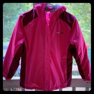 Pink and magenta Swiss tech jacket